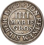 4 Mariengroschen - Ernst August I. – reverse