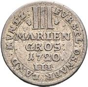 3 Mariengroschen - Ernst August II von York – reverse