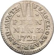 6 Pfennig - Ernst August II von York – reverse