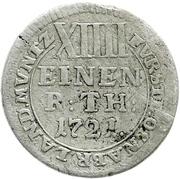 1/14 Thaler - Ernst August II von York – reverse