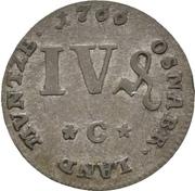 4 Pfennig - Friedrich von York – reverse