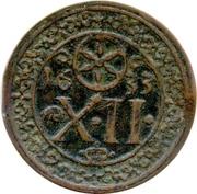 12 Pfennig - Franz Wilhelm von Wartenberg – reverse