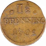 1½ Pfenning – reverse