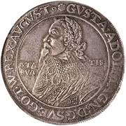 1 Thaler - Gustav II Adolf (Death, Swedish occupation) – obverse