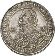 1 Thaler - Gustav II Adolf (Death; Swedish occupation) – obverse