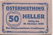 50 Heller (Ostermiething) – obverse