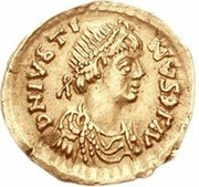 1 Tremissis - Anonymous / In the name of Justin I, 518-527 (Rome) – obverse