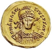 1 Solidus - Theoderic / In the name of Anastasius I, 491-518 (Reverse legend ending with christogram) – obverse