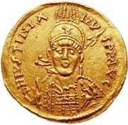 1 Solidus - Witigis / In the name of Justinian I, 527-565 (Star to the right) – obverse