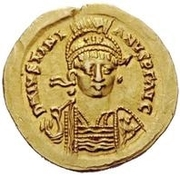 1 Solidus - Witigis / In the name of Justinian I, 527-565 (Star to the left) – obverse