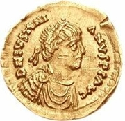 1 Tremissis - Anonymous / In the name of Justinian I, 527-565 – obverse