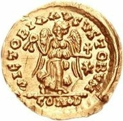 1 Tremissis - Anonymous / In the name of Justinian I, 527-565 – reverse