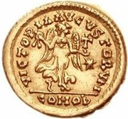 1 Tremissis - Theoderic / In the name of Anastasius I, 491-518 (One star) – reverse