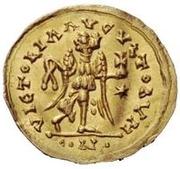 1 Tremissis - Baduila / In the name of Anastasius I, 491-518 (Ticinum) – reverse