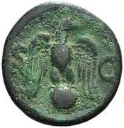 42 Nummi (Countermark; As of Vespasian, 69-79) – reverse