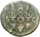 42 Nummi (Countermark; As of Galba, 68-69; eagle) – reverse