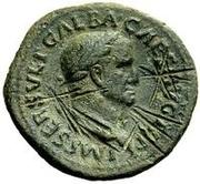 42 Nummi (Countermark; As of Galba, 68-69; Libertas) – obverse