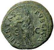 42 Nummi (Countermark; As of Galba, 68-69; Libertas) – reverse