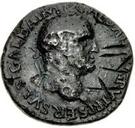 42 Nummi (Countermark; As of Galba, 68-69; winged Victory) – obverse