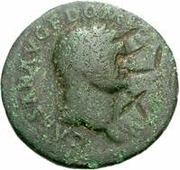 42 Nummi (Countermark; As of Domitian, 81-96) – obverse