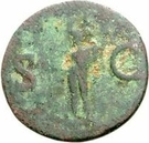 42 Nummi (Countermark; As of Agrippa, 45-12BC, honoured by Caligula, 37-41) – reverse