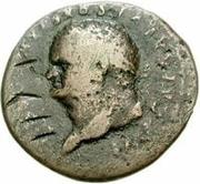 42 Nummi (Countermark; As of Titus, 79-81) – obverse