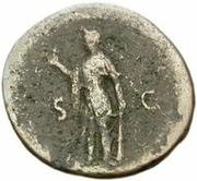 42 Nummi (Countermark; As of Titus, 79-81) – reverse