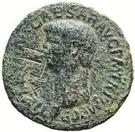 42 Nummi (Countermark; As of Claudius, 41-54) – obverse