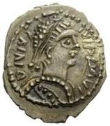 ¼ Siliqua - Hildebard / In the name of Justinian I, 527-565 (Rome) -  obverse