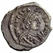 ¼ Siliqua - Baduila / In the name of Anastasius I, 491-518 (Ticinum) – obverse