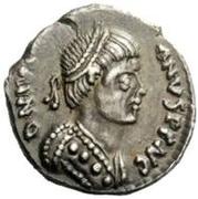 ½ Siliqua - Witigis / In the name of Justinian I, 527-565 (Ravenna) – obverse