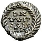 ½ Siliqua - Witigis / In the name of Justinian I, 527-565 (Ravenna) – reverse