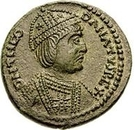 1 Follis - Theodahad (Rome) – obverse