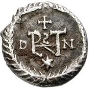 ½ Siliqua - Athalaric / In the name of Justin I, 518-527 (Ravenna) – reverse
