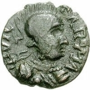 10 Nummi - Athalaric (Rome; person standing) -  obverse