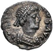 ¼ Siliqua - Theoderic / In the name of Anastasius I, 491-518 (Ravenna) – obverse