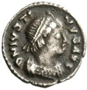 ¼ Siliqua - Theoderic / In the name of Justin I, 518-526 (Ravenna) – obverse