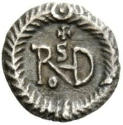 ¼ Siliqua - Theoderic / In the name of Justin I, 518-526 (Ravenna) – reverse