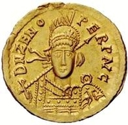 1 Solidus - Theoderic / In the name of Zeno, 476-491 (Mediolanum/Milan) – obverse