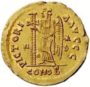1 Solidus - Theoderic / In the name of Zeno, 476-491 (Mediolanum/Milan) – reverse