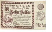 10 Heller (Ottenschlag) – obverse
