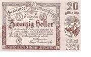 20 Heller (Ottenschlag) -  obverse