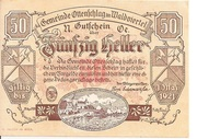 50 Heller (Ottenschlag) – obverse