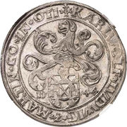 1 Thaler - Karl Wolfgang, Ludwig XV and Martin – obverse