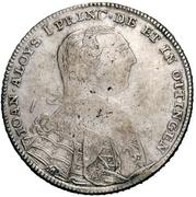 ⅔ Thaler - Johann Aloys I. (Gittergulden) – obverse