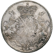 ⅔ Thaler - Johann Aloys I. (Gittergulden) – reverse