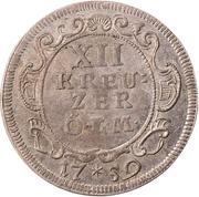 12 Kreuzer - Johann Aloys I. – reverse