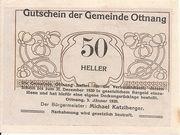 50 Heller (Ottnang) -  obverse