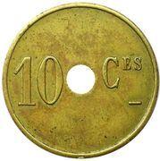 10 Centimes (Economat des Mines) – reverse