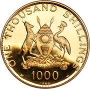 1000 Shillings (Visit of Pope Paul VI) – obverse